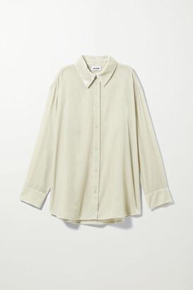 Weekday Faustine Velvet Shirt - Beige