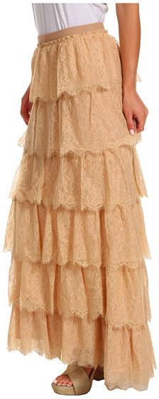 BCBGMAXAZRIA Edita Tiered Lace Skirt