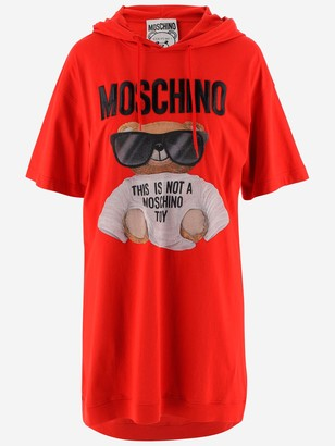 Moschino Teddy Hooded T-Shirt Dress
