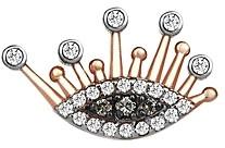 Kismet by Milka 14K Rose Gold White & Champagne Diamond 10th Eye Eternal Vision Stud Earring