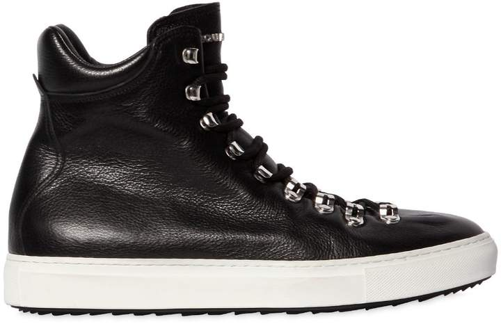 DSQUARED2 High Top Leather Sneakers