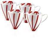 Mikasa Dinnerware, Set of 4 Pure Red Mugs