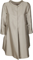 Armani Collezioni Metallic Concealed Placket Coat