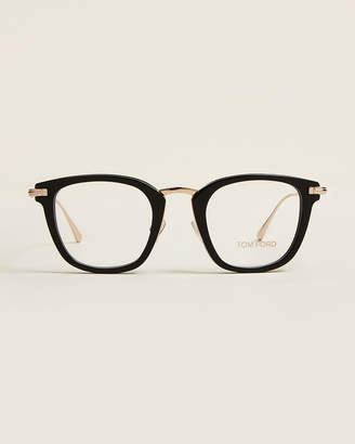 Tom Ford TF5496 Black & Gold-Tone Square Optical Frames