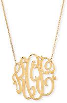 Jennifer Zeuner Jewelry 18k Gold Vermeil Medium 3-Letter Monogram Necklace