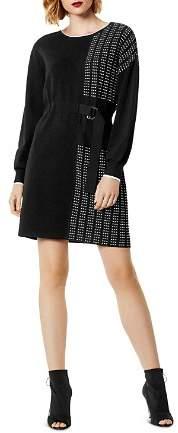 Karen Millen Pleated Detail Sweater Dress