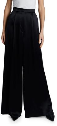 Loewe Wide-Leg Trousers with Satin Tuxedo Band