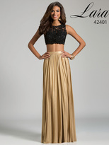 Lara Dresses - 42401 in Black/Gold