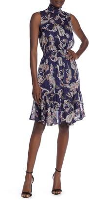 Nanette Nanette Lepore Sleeveless Mock Neck Dress