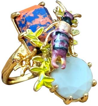 Les Nereides Multicolour Gold plated Rings