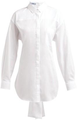 Prada Mirrored Cotton-poplin Shirt - Womens - White