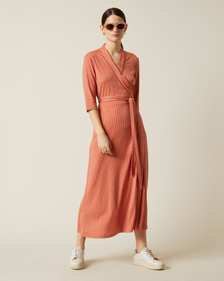 Jigsaw Petal Geo Wrap Jersey Dress