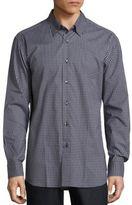 Brioni Mid Check Long Sleeve Shirt