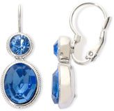 JCPenney MONET JEWELRY Monet Silver-Tone Blue Stones Double-Drop Earrings