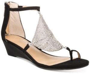 Thalia Sodi Tysson Jewel Wedge Sandals, Created for Macy's Women's Shoes