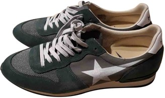 Golden Goose Green Leather Trainers