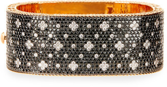 Roberto Coin 18K Rose Gold Black & White Diamond Bangle