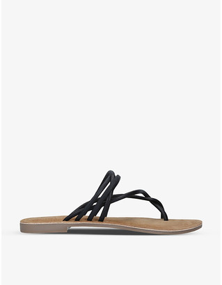 Kurt Geiger Maria flat leather sandals