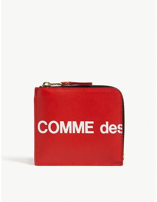 Comme des Garcons Logo print leather wallet