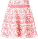 Alexander McQueen floral jacquard flared skirt - women - Polyamide/Polyester/Spandex/Elastane/Viscose - S
