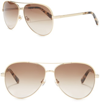 Kate Spade Amarissa 59mm Aviator Sunglasses