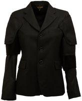 Comme des Garcons buttoned jacket - women - Cotton/Cupro/Wool - M
