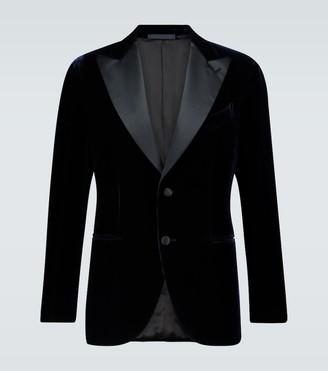Caruso Single-breasted velvet blazer