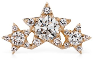Maria Tash Rose Gold And Diamond Flower Garland Threaded Stud Earring