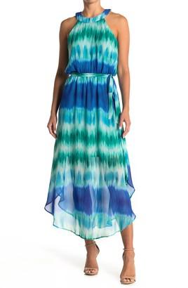 Love Squared Tie-Dye Waist Sash Maxi Dress