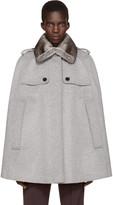 Burberry Grey Fur Collar Wolesley Cape