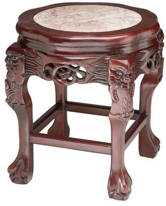 Orchard Creek Designs Rosewood Plantstand With Ball In Claw Feet