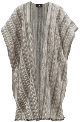 Su Paris - Kaja Striped Cotton Cover Up - Womens - Black Stripe