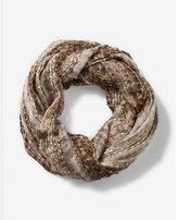 Express metallic sequin loop scarf