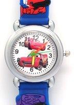 TimerMall Cartoon 3D Strap Round Dial Kids Boys Girls Analog Watches Cars Pattern