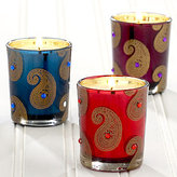 Paisley Set of 3 Votive Candles