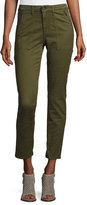 AG Jeans Kinsley Sulfur Palm Green Twill Ankle Jeans
