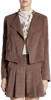 Halston Faux Suede Short Jacket