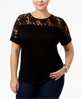 ING Trendy Plus Size Lace T-Shirt