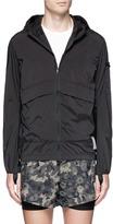 Satisfy 'Run Away' print packable windbreaker jacket