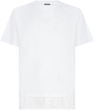 Christian Dior Oblique Jacquard Shirt-Panelled T-Shirt