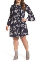 Vince Camuto Plus Size Women's Bell Sleeve Shift Dress