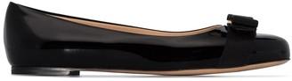 Salvatore Ferragamo Varina patent leather ballerina shoes