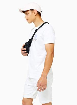 TopmanTopman White Slub Stepped Hem T-Shirt