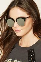 Forever 21 FOREVER 21+ Mirrored Browline Sunglasses