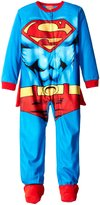 "Superman Little Boys' ""Muscle Suit"" 1-Piece Pajamas with Cape"