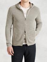 John Varvatos Cotton-Linen Zip Hoodie