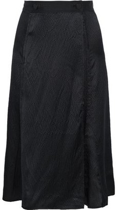 Rag & Bone Hugo Hammered-silk Wrap Skirt