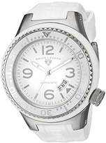 Swiss Legend men's Automatic Watch with White Dial Analogue Display and White Silicone Strap SL-11819A-02-WHT-W