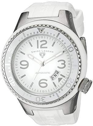 Swiss Legend Men's Analogue Automatic Watch with Silicone Strap SL-11819A-02-WHT-W