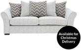 Cavendish Chevron 3-Seater Fabric Sofa
